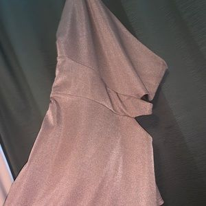 Missguided Dresses - Rose Gold- one sleeve Dress